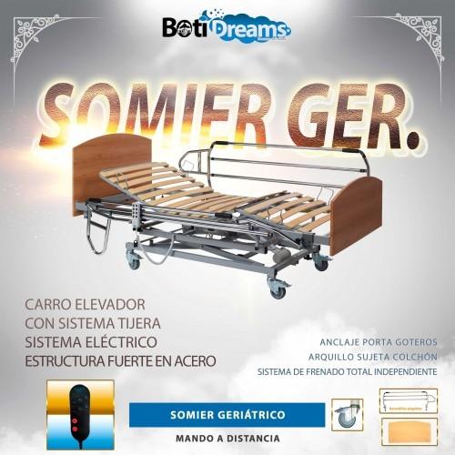 SOMIER GERIÁTRICO CON CARRO ELEVADOR
