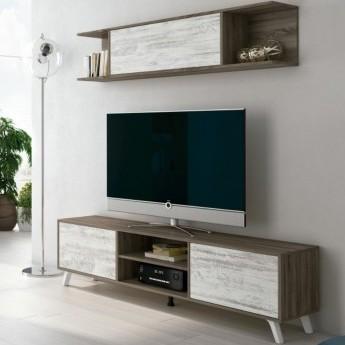 MESA TV Y ESTANTERIA TRUFA